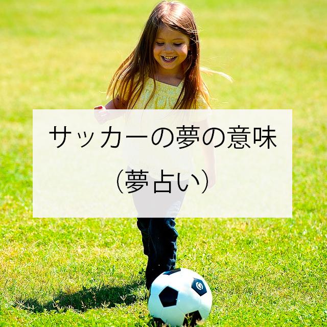 サッカーの夢の意味とは?(夢占い)