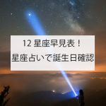12星座早見表!誕生日で確認する星座占い
